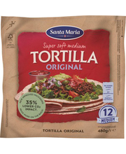 Santa Maria Original Medium tortilja, 12 tk 480 g