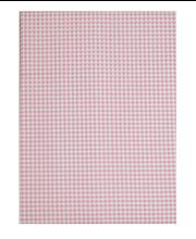 Voodilina 90x150cm roosa ruuduline, 100% puuvill