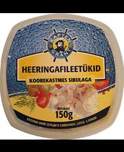 Heeringafilee sibulaga koorekastmes 150 g