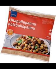 Kartulipanniroog lihapallidega, 500 g