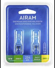 Halogeenlamp 18W, G9, 2800K 205LM, 2 tk