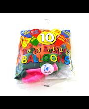 Õhupallid Happy Birthday 10 tk