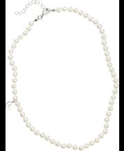 Cailap kaelakett pärlid lühike valge
