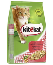 Kitekat kuivtoit kassidele härjaliha ja köögiviljaga, 1,8 kg