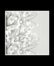 Salvrätik 25 cm 20 tk Lumimarja valge