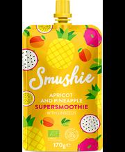 Smushie öko aprikoosi-ananassipüree linaseemnetega, 170 g