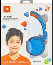 Laste kõrvaklapid JBL Junior 300 BT, juhtmevabad sinine/oranz
