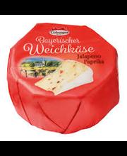 Baieri valgehallitusjuust jalopeno ja paprikaga, 150 g