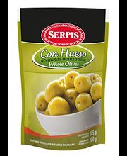 Rohelised oliivid kividega 175/100 g