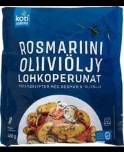 Rosmariini ja oliivõliga maitsestatud koorega kartulisektorri...