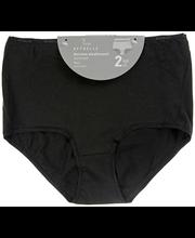 Naiste aluspüksid Basic 2 paari must, XL
