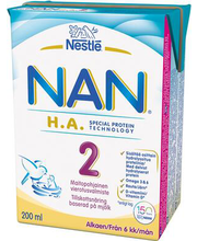 Nan HA 2 jätkupiimajook 200 ml, alates 6-elukuust
