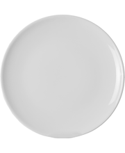 Taldrik 26 cm 6 tk, valge fajanss