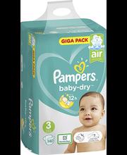 Pampers Baby Dry 3 Midi, 6-10kg, 140 tk