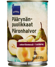 Pirnipoolikud suhkruleemes 425/230 g