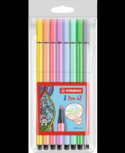 Viltpliiatsid Stabilo pen pastell 68 8 tk
