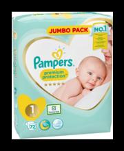 Pampers Prem.Prot 1 Teipmähe 2-5kg 72 tk.