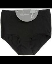 Naiste aluspüksid maxi 2 paari, must XL