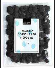 Tumeda šokolaadi nööbid 200 g