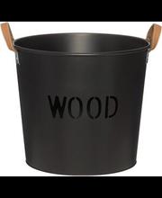Puudekorv Wood, must