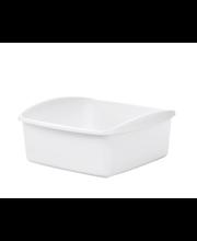 Pesukauss kandiline 10 l/37x39,5x16 cm, valge plast