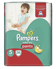 Pampers püksmähkmed Baby Dry Pants 5, 12–17kg, 36 tk