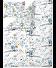 Voodipesukomplekt Unikupla 150x210/50x60 cm hall 100% puuvill