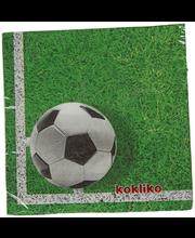 Salvrätikud football 33cm 20tk