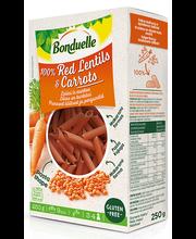 Punase läätse ja porgandi gluteenivaba pasta rigatoni 250 g