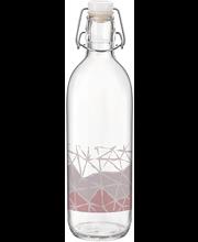 Klaaspudel Emilia 0,5 l roosa