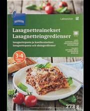 Lasanjetteplaadid, kastmeained 273 g, laktoosivaba