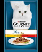 Täissööt kassidele kana- ja veiselihaga 80 g