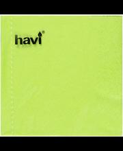 Laimi värvi salvrätikud, 24 cm, 50 tk