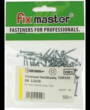 Fixmaster universaalkruvi, ümarpea, TX10 ZN, 3,0 x 20 mm, 50 tk