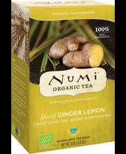 Roheline tee kofeiinivaba, ingver ja sidrunhein 16 x 2 g, Organic