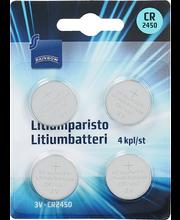 Patarei Litium CR2450, 4 tk
