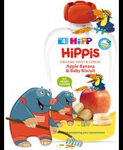 Hipp Hippis õuna-banaanipüree beebiküpsistega 100 g, öko, 4-e...