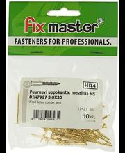 Fixmaster puidukruvi, peitpea, 3,0 x 30 mm, 50 tk