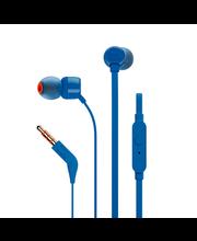 Nööpkõrvaklapid mikrofoniga T110, sinine