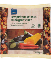Grillitud köögiviljad, 450 g