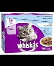 Täissööt kassidele, kalavalik 12 x 100 g