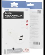 Autolaadija + USB-c 1m