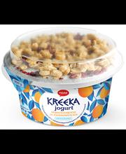Aprikoosimoosi ja jõhvikamüsliga kreeka jogurt, 150 g
