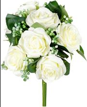 Kunstlillede kimp, roosid, valge