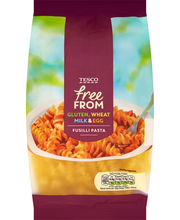 TESCO FREE FROM PASTA FUSILLI 500G