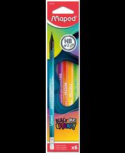 Harilik pliiats BlackPeps Energy kolmekandiline HB kummiga 6tk