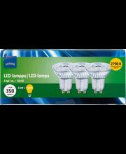 LED-lamp 3,6W GU10 2700K 350LM, 3 tk
