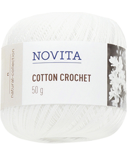 Lõng Cotton Crochet 50 g valge