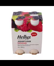 Metsamarja jogurtijook, 4 x 100 g