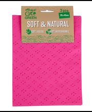 Go Green üldpuhastuslapp Soft&Natural 3tk
